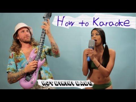 How to Karaoke - Hot Bikini Babe