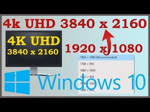 Force 4k resolution Windows 10 - No 4k (3840 x 2160) resolution Fix
