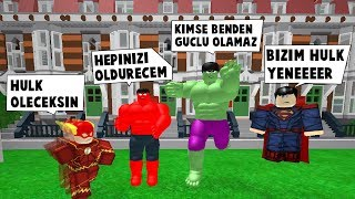 THIRD IN SUPERHEROISM. MY DAY CAME THE RED HULK! / Roblox English / MadCity Roleplay