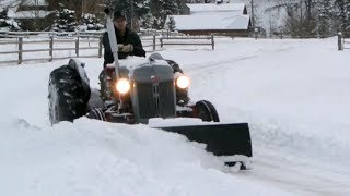 Ford 8N Plowing Snow