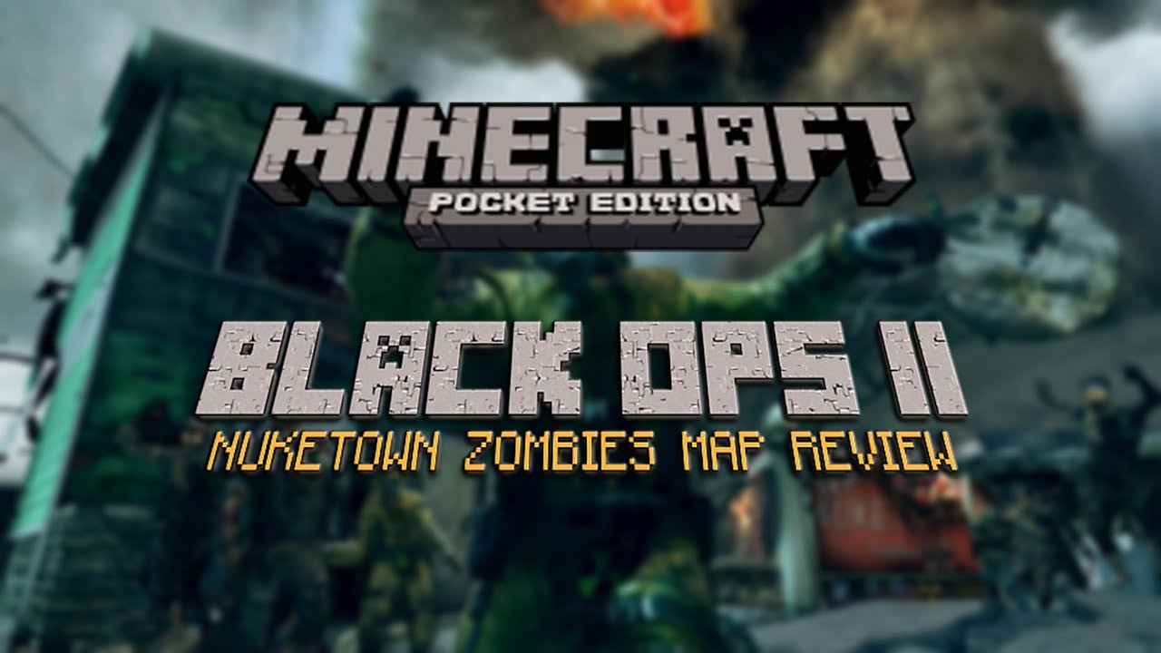 Minecraft pe black ops 2 nuketown zombies map review youtube gumiabroncs Choice Image
