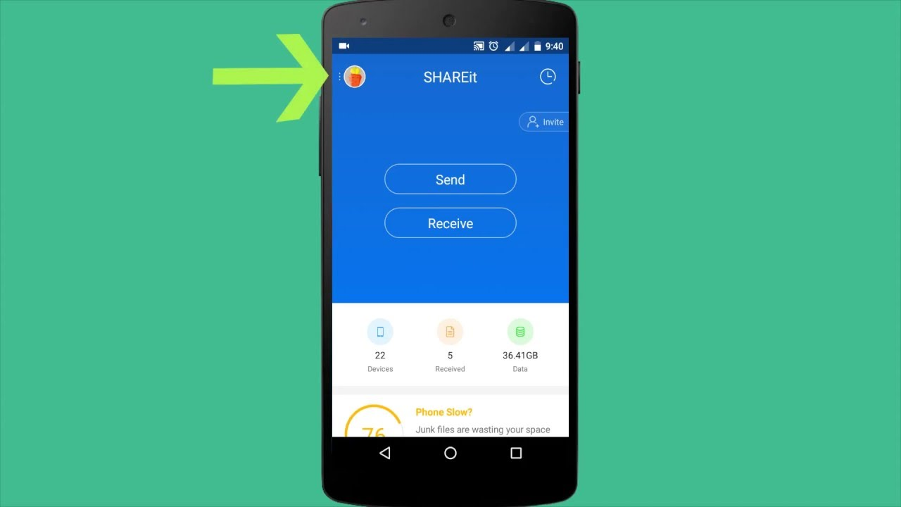 Shareit - How to connect to PC with QR code