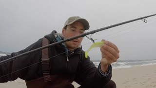 Surf Fishing for Stripers - Lure Tip!! New Jersey Oct. 2015