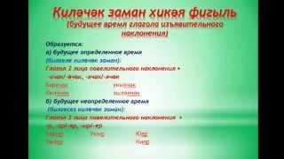Уроки татарского языка  Урок 22  киләчәк заман хикәя фигыль