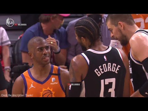 Chris Paul and Paul George are speaking their version of truth to each  other about fouls - YouTube
