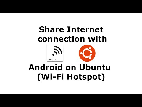 Share Internet Connection with Android on Ubuntu (Wi-Fi Hotspot)