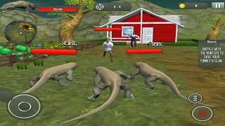 Komodo Dragon Family Sim: Beach & City Attack 3D