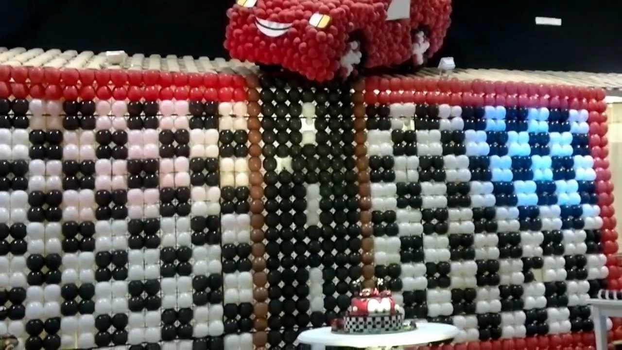 decoração festa infantil mcqueen  YouTube