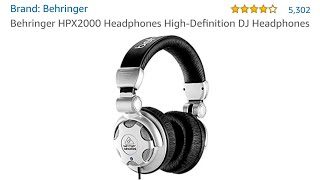 Behringer HPX2000 HD DJ Style Headphones Post-Use 2 Month Review