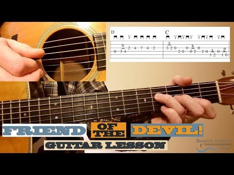 Friend of the Devil - Beginner Guitar Lesson with TAB - YouTube