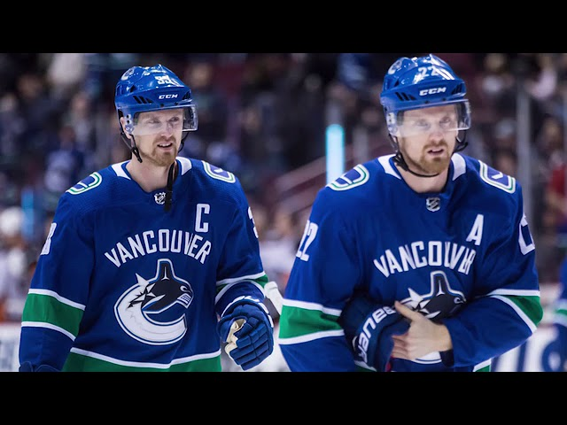 """Vancouver Canucks forwards Henrik and Daniel Sedin announced Monday they will retire after 17 seasons with the team. Daniel Sedin says life after the NHL will be different but adds they are """"happy"""" with the decision. (The Canadian Press)"""