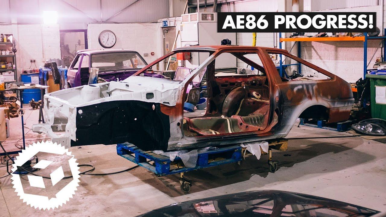 AE86 Progress! Engine Bay Sanding And Priming. | Juicebox Unboxed #104