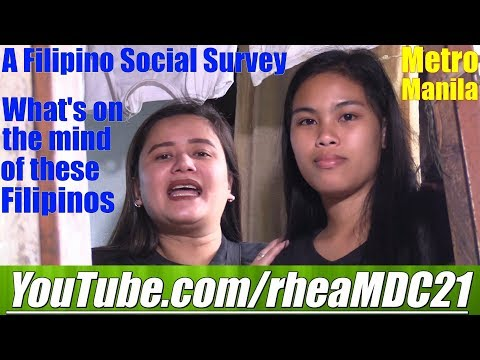 Travel to the Philippines and Conduct a Social Survey About the Filipino Women who Marry Foreigners