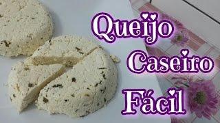 QUEIJO CASEIRO EM 5 MINUTOS COM 2 INGREDIENTES