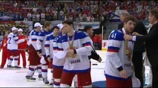 Хоккей. ЧМ 2014.Сборная России.Победа,награждение,гимн!