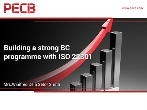 Building a strong BC programme with ISO 22301