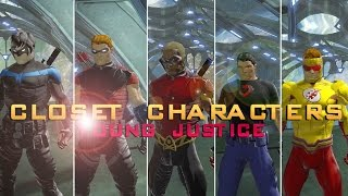 dcuo closet characters young justice season 2 nightwing red arrow aqualad superboy kid flash