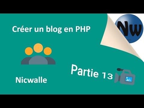 [13/17] Créer un blog avec Back-office en PHP   Partie 13