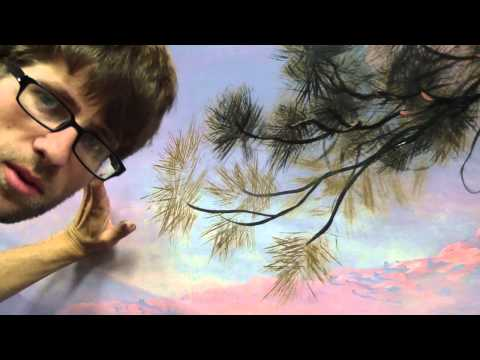How To Paint Pine Needles - Mural Joe