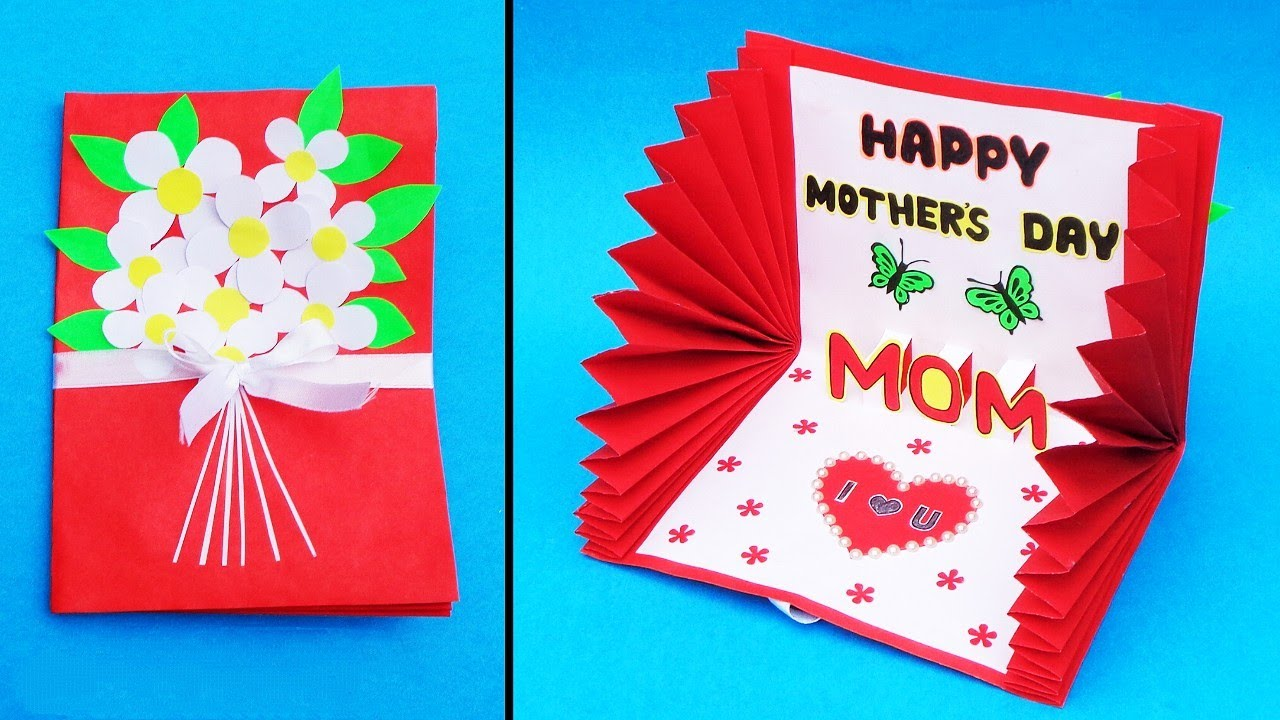 Beautiful Mother S Day Card Idea Handmade Greeting Card For Mom Diy Mother S Day Pop Up Card Youtube