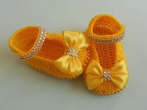 Crochet Crosia Crochet Baby Girl Booties Tutorial Urduhindi Youtube