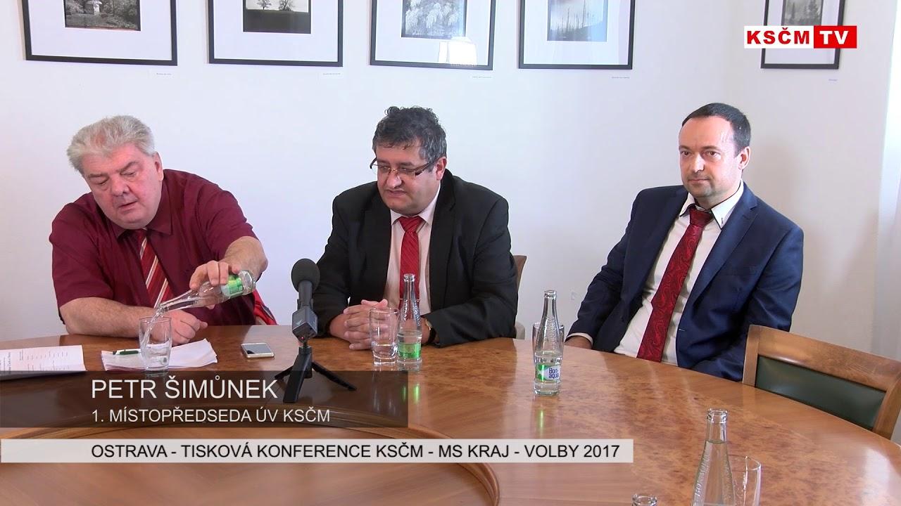 Ostrava - Tisková konference k volbám 2017 v MS kraji