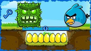 Angry Bird Blue In Red Ball 4 Green Hills Walkthrough #Redball…