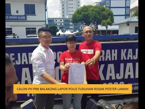 Calon PH PRK Balakong lapor polis tuduhan rosak poster lawan