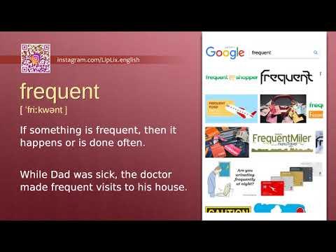 Frequent : B1 level english vocabulary lesson, www.LipLix.com