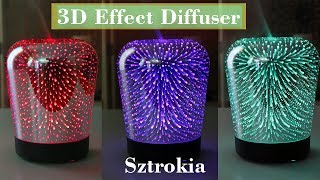 🌺 SZTROKIA Aromatherapy Essential Oil Diffuser 3D Effect (180 ml) Color DISCOUNT CODE👈