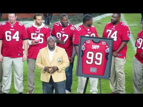 Warren Sapp Ring of Honor Induction and Jersey Retirement at Bucs vs Dolphins game 11/11/13