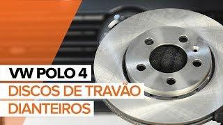 Como trocar discos de travão dianteiros e as pastilhas de travão VW Polo | Tutorial HD