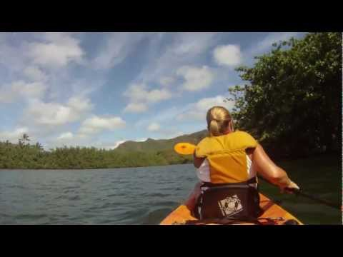 Kauai - Kayak Wailua River - Secret Falls Hike - HD