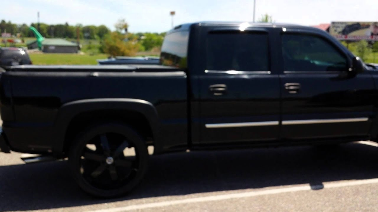denali  u0026 silverado on 24 u0026quot  gloss black u2-55 u0026 39 s
