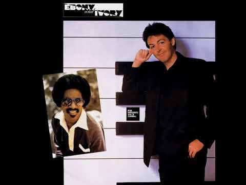 Paul McCartney & Steve Wonder - Ebony And Ivory (LYRICS)
