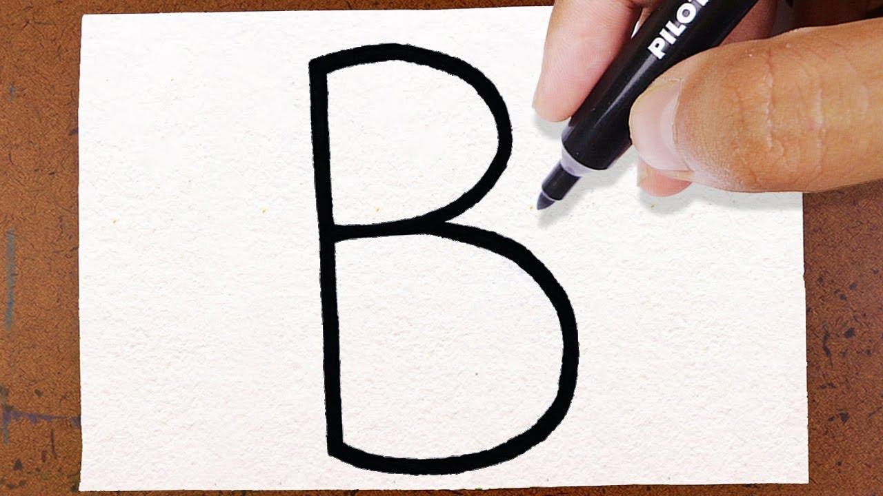 como transformar a letra b em uma borboleta truques em