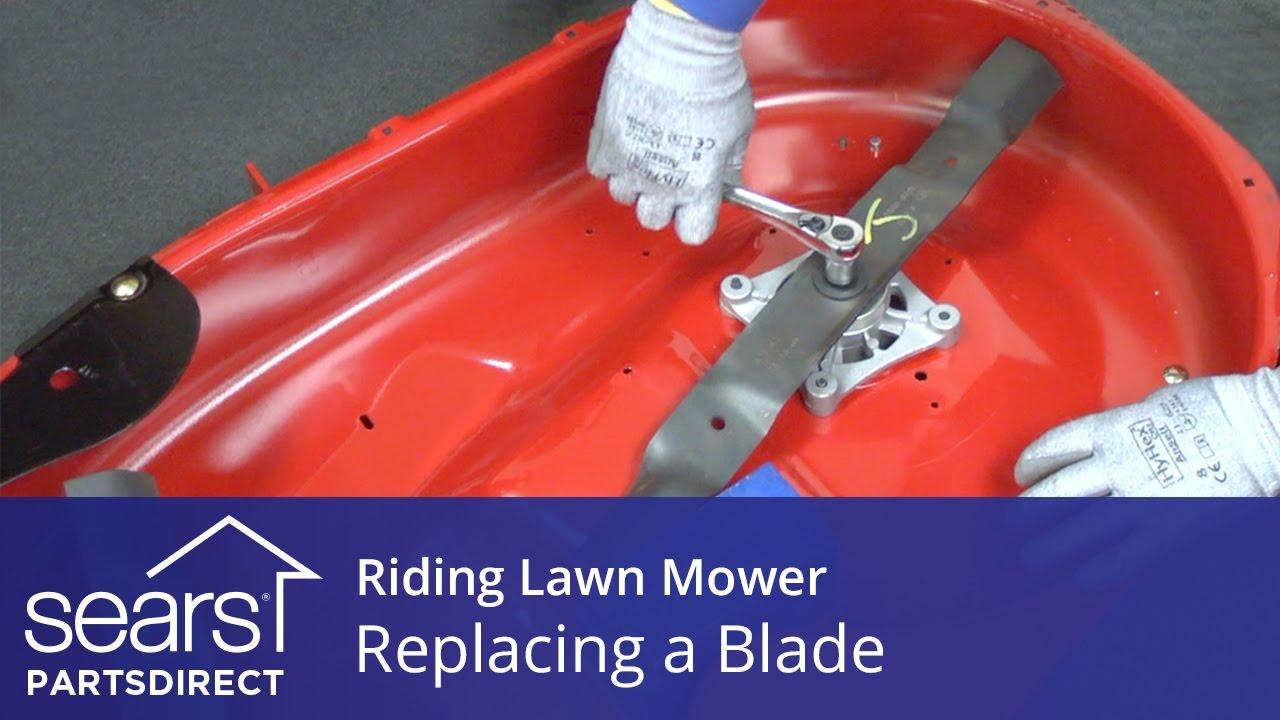 Replacing A Blade On Riding Lawn Mower Youtube Deck Belt Diagram Mtd Yardman 46 Cutting