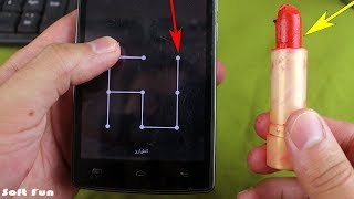 كيف تفتح قفل أي هاتف بقلم روج بدون إدخال الكود السري في ثواني ! فكرة جهنمية 2019