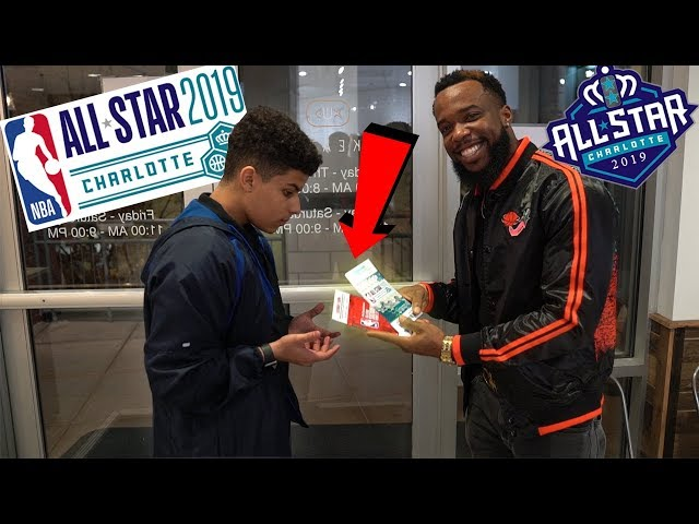 Surprising A Long Time Fan With NBA ALL-STAR 3 Point Competition and All-Star Game Tickets!