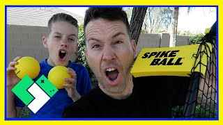 FIRST TIME PLAYING SPIKEBALL (Day 1840) | Clintus.tv