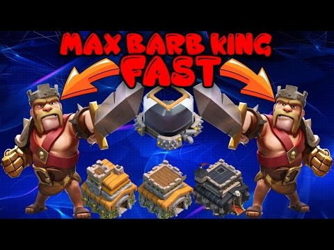 Clash Of Clans - MAX BARBARIAN KING FAST Strategy For TH7, TH8, TH9 -10K IN 10 MINUTES - 2017