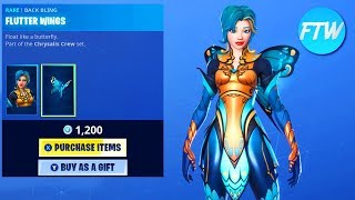Fortnite Item Shop Showcase *NEW* FLUTTER BUTTERFLY SKIN AND CATERPILLAR SKIN!!!