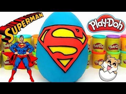 Superman Plastilina Español Lina En De Huevo Y Doh Gigante Play Sorpresa Con Eva m8wvNn0