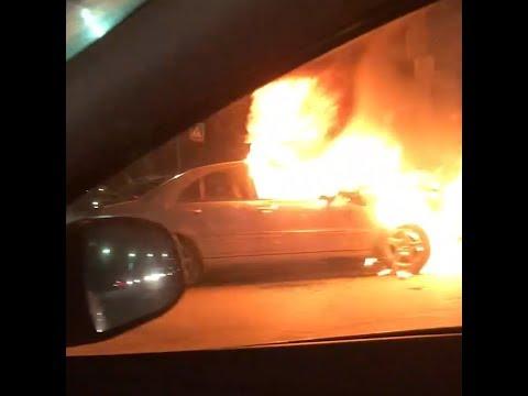 В Копейске потушили машину, которая загорелась на ходу   74.RU