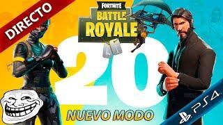Fornite Battle Royale nuevo modo Equipos de 20   Directo gameplay español ps4