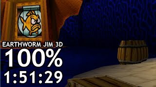 100% in 1:51:29 [Former World Record] | Earthworm Jim 3D