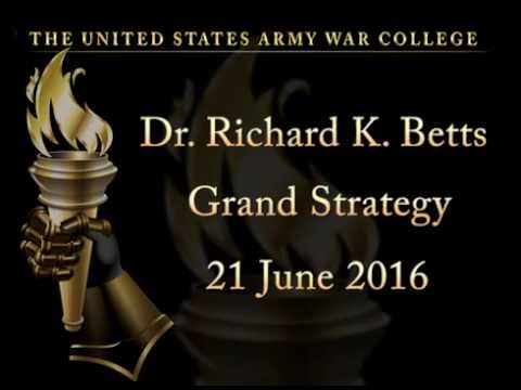 Dr. Richard K. Betts, Leo A shifrin Professor of War and Peace Studies