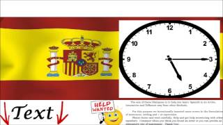 Spanish Conversation - What time is it? = ¿Qué hora es? - Practice, Learn how to Communicate