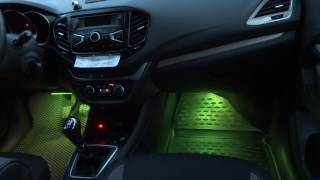 Лада Веста. RGB подсветка пола.