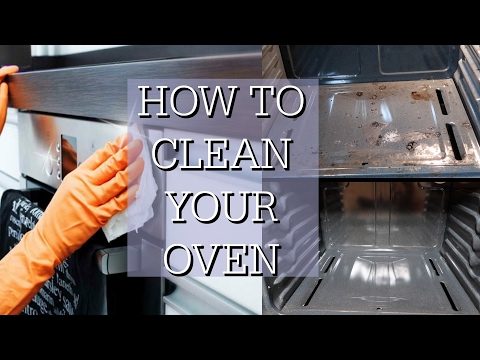 HOW TO CLEAN YOUR OVEN WITH BAKING SODA AND VINEGAR!
